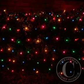 Decorating With Net Lights Christmas