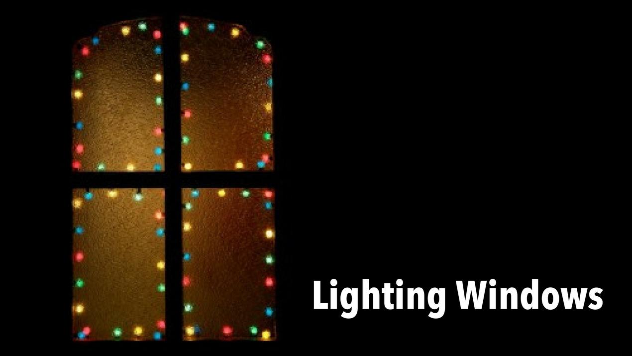 Using Lights to Decorate Windows