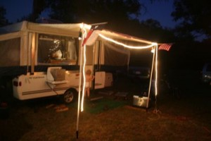 Rope Lights on a Camper
