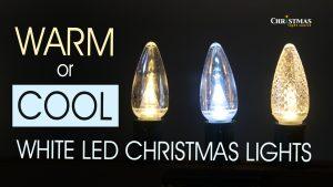 Warm or Cool White LED Christmas Lights