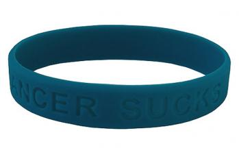 Teal Wrist Band Supporting Ovarian Cancer Awareness