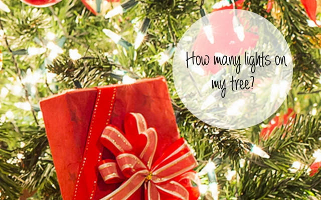 How Many Lights Should I put on my tree?