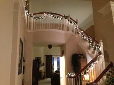 Project Light Up Your Stairway Banister Christmas Light