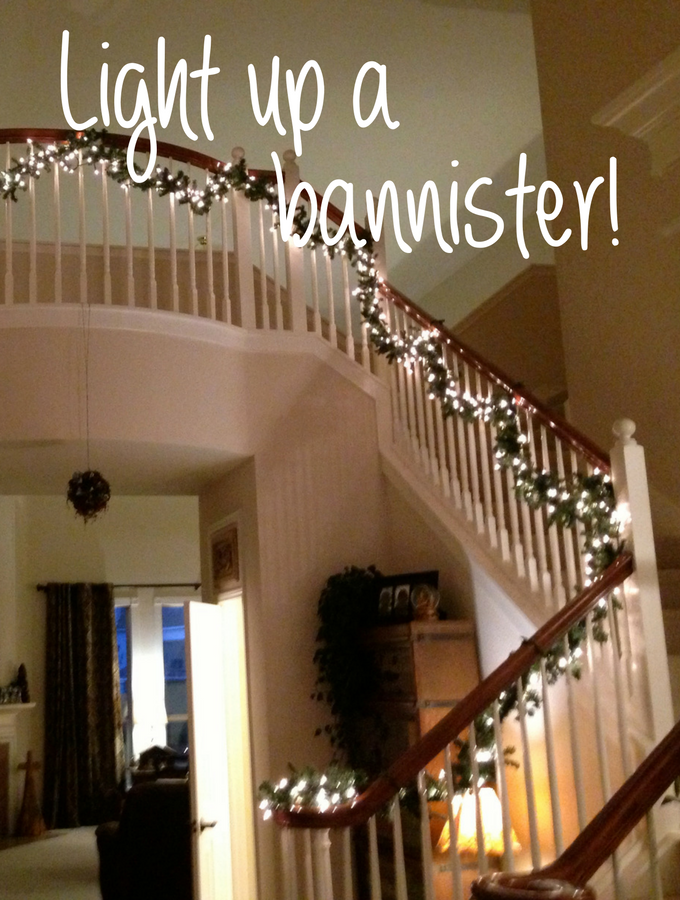 Project Light Up Your Stairway Banister Shellie At