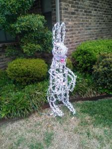 Easter Bunny Yard Art