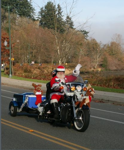 Santa Joe at the Olympia Fun Run