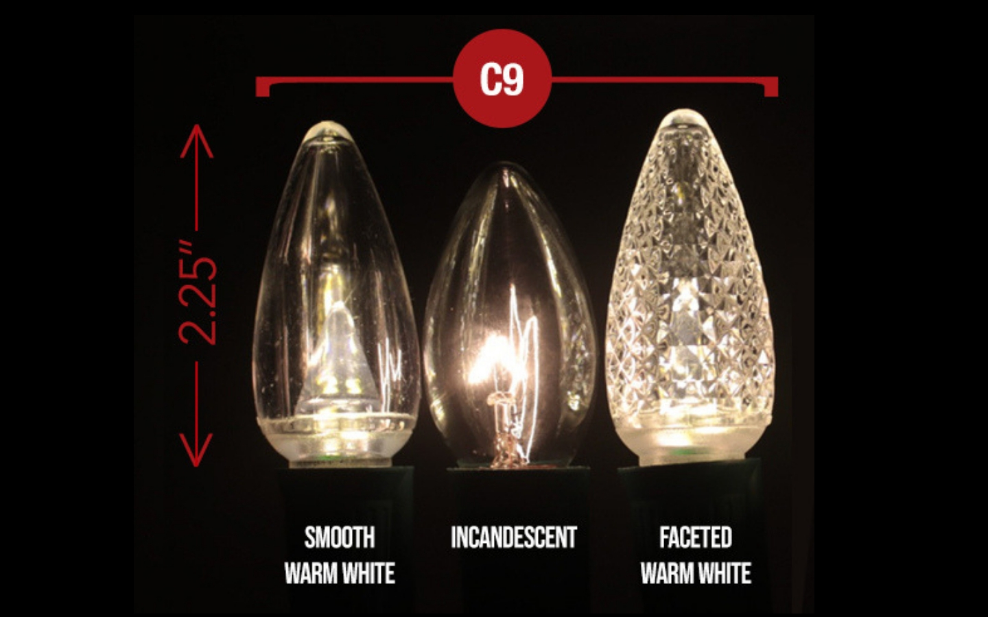 What is the difference between C7 and C9 Christmas Bulbs ...