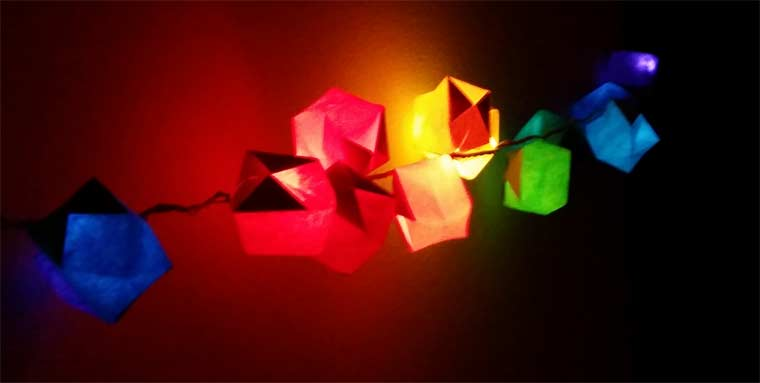 Rainbow Paper Lantern String Lights Diy