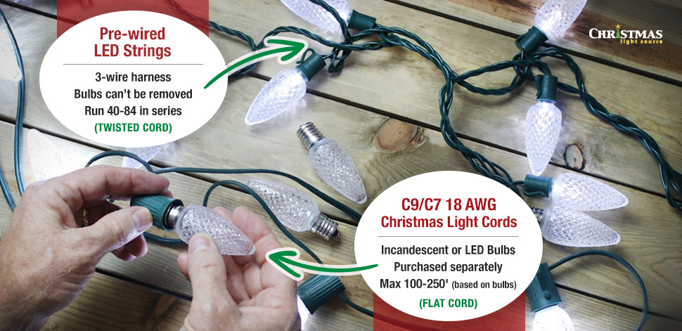 LED Strings vs Bulbs and Cords