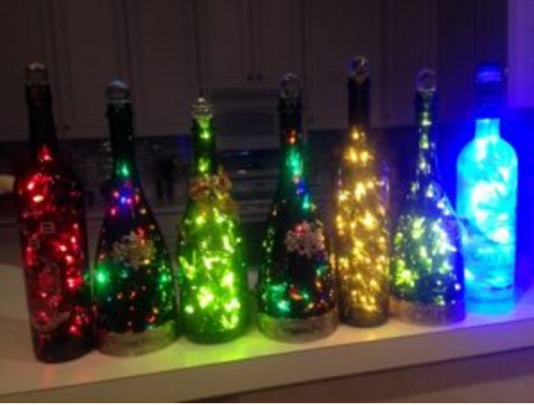 Filling bottles to the brim with lights!