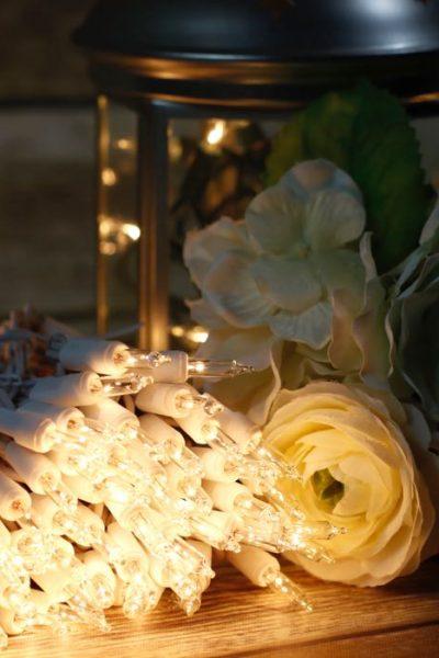 Lights for Weddings and White Christmas Trees