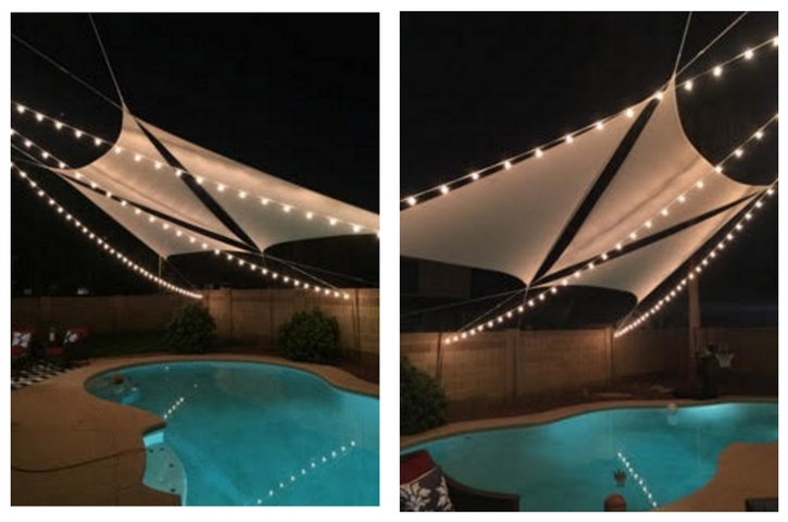 Fantastic way to light up a backyard pool!
