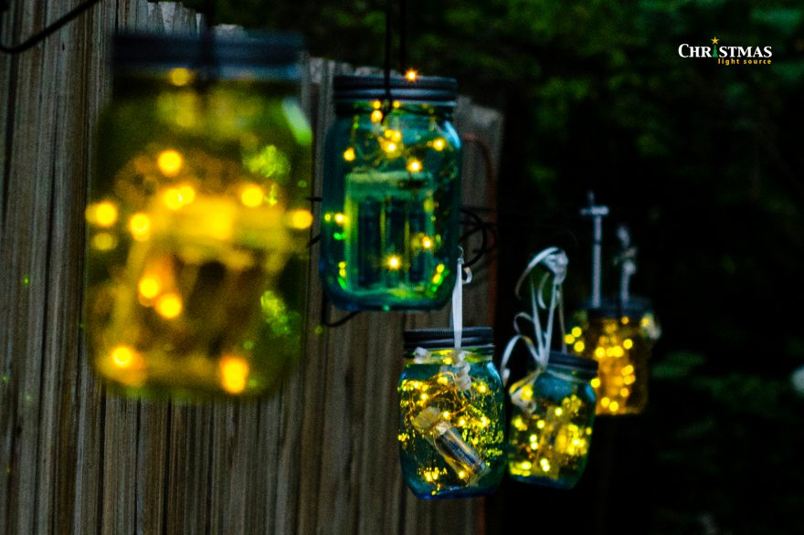 Mason Jar Crafts with Battery Operated Lights