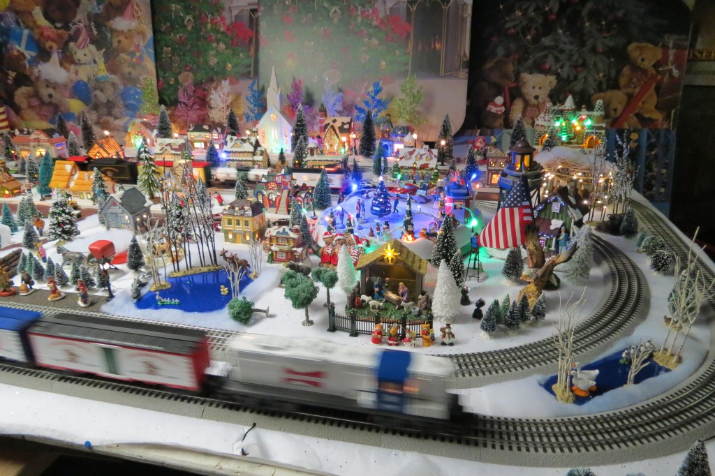 String Lights For Christmas Village : Lights Across the Country: Missouri LED lights in a Model Train Village