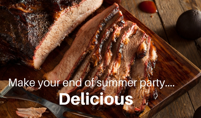 End of Summer Parties, Brisket and Lights