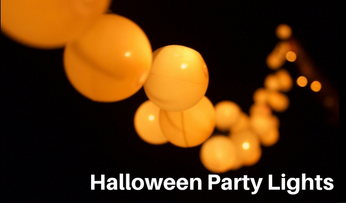 Easy Halloween Party Lights – Ping Pong Ball Crafts