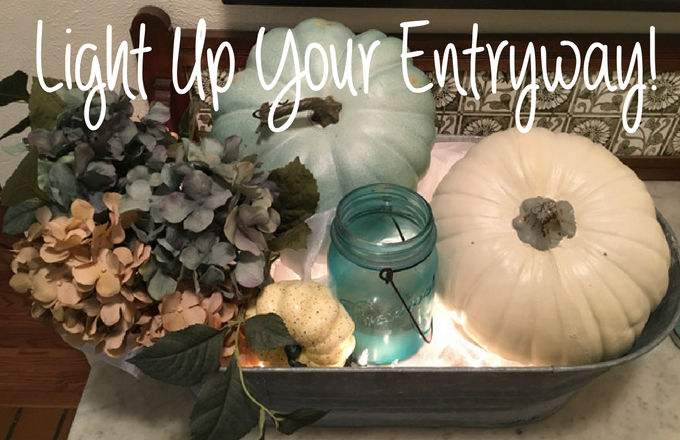 Lighting Your Entryway:  One Container 3 Ways