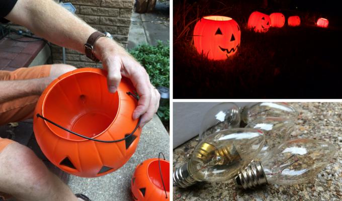 How do I light up a pumpkin?  Pumpkin Luminaries!