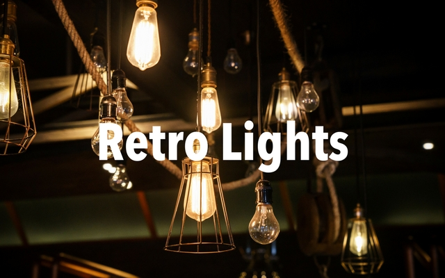 What vintage style lights are available?