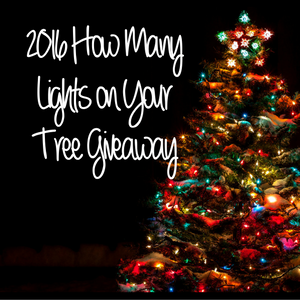 2016 Christmas Tree Lights Giveaway Winners!