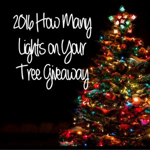 2016 Christmas Tree Lights Giveaway Winners!