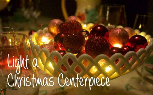 Lighting Christmas Centerpieces