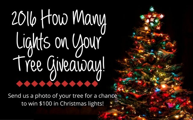 How Many Lights on Your Tree Giveaway!