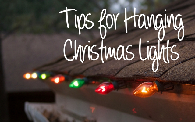 Tips for installing christmas lights
