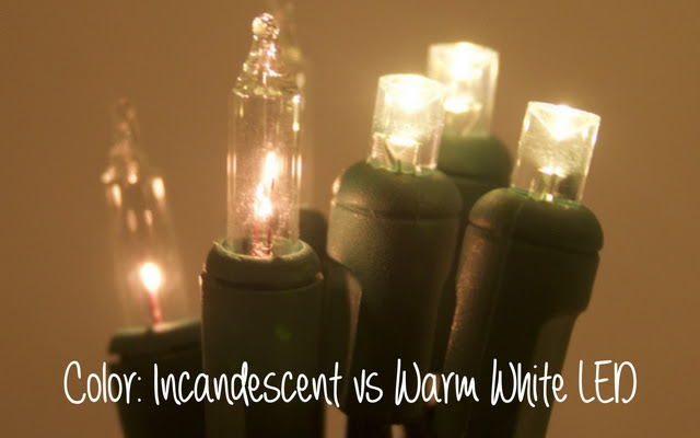 incandescent white vs warm white led christmas lights
