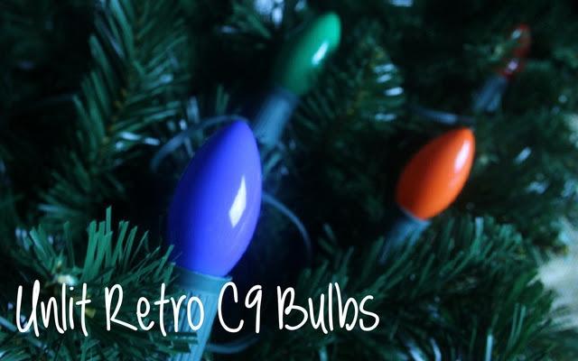 Retro C9 Christmas light bulbs