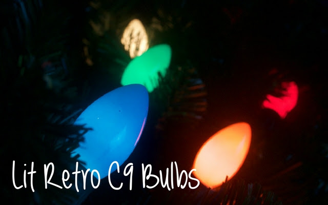 Retro C9 Christmas light bulbs