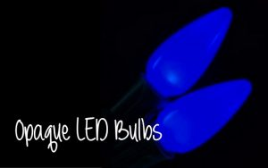 Opaque C9 LED Christmas light bulbs