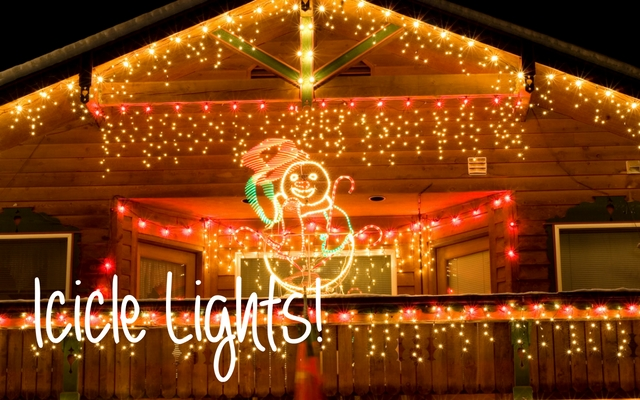 icicle lights are quintessentially christmas used alone or tucked along the roofline with your string lights or bulbs and cords these light strings pack a