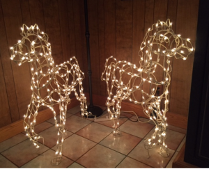 Customer Photo: Lighting up Wire Frame Horses