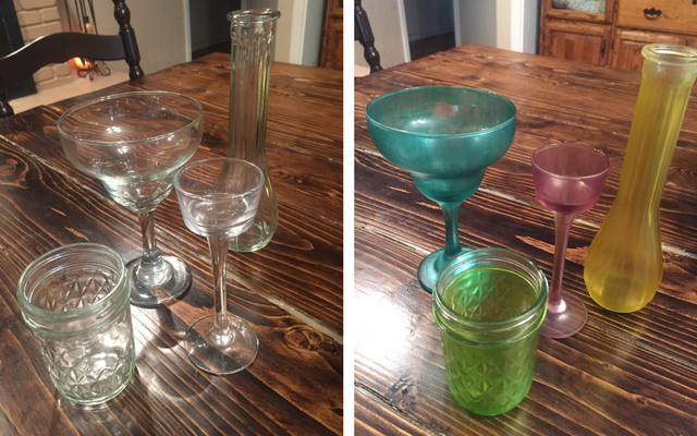 Create Sea Glass Candle Holders