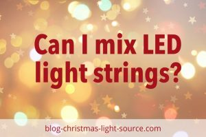 Can I mix up LED light strings?