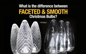 What is the difference between faceted and smooth bulbs