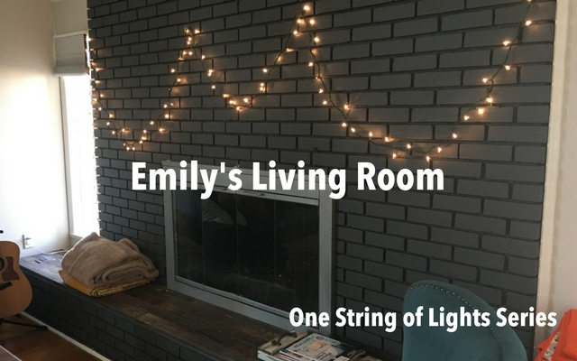 Emily's Living Room – A Single String of Lights