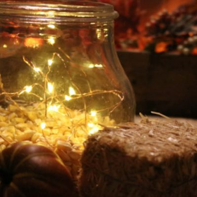 Battery Light Project: Fun Popcorn with Lights Centerpiece