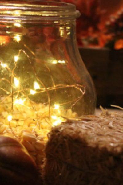 Battery Light Project: Fun Popcorn with Lights Centerpiece