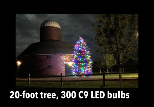 How do I light my 20-foot tree?