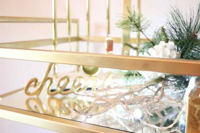 3 ways to light a bar cart