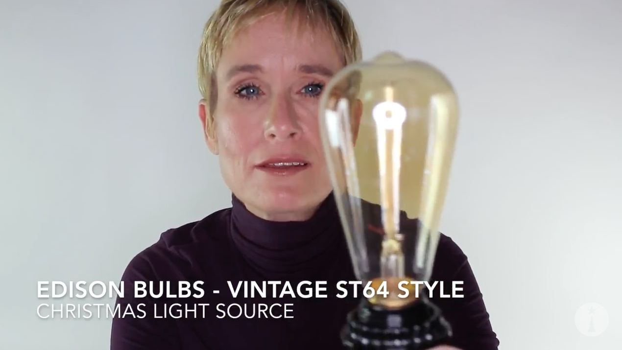 Vintage ST64 Style Edison Bulbs Video