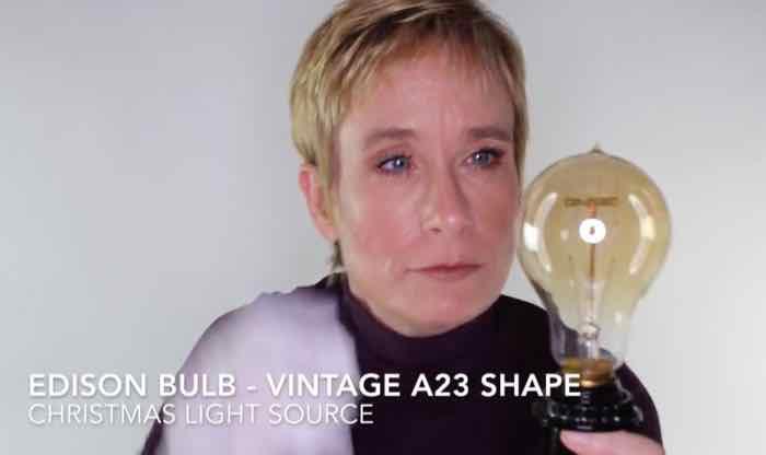 Edison Vintage A23 Style Bulb Video