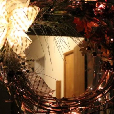Light a Rustic Grapevine Wreath!