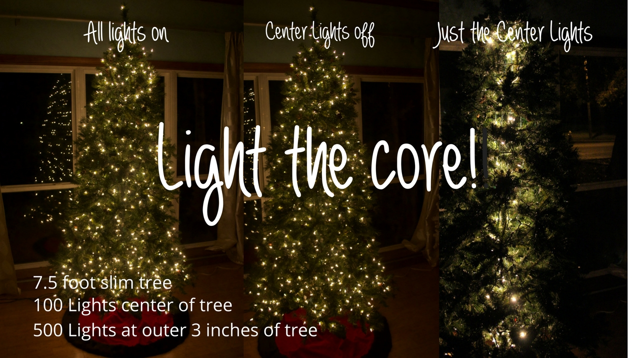 How to light a Christmas Tree:  Light the Core!