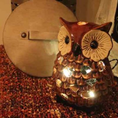 Light a Happy Owl (or any candle holder) with lights!