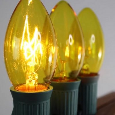 Yellow C9 Twinkle Bulbs Video