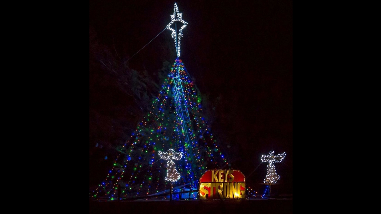 Lighting Up Seven Mile Bridge Christmas Light Source