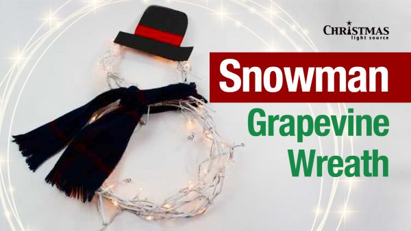 Snowman Grapevine Wreath - Light your entryway